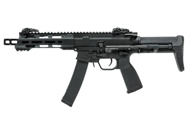 KWA QRF Series MOD 1 Pistol Caliber Carbine Airsoft Rifle, Black