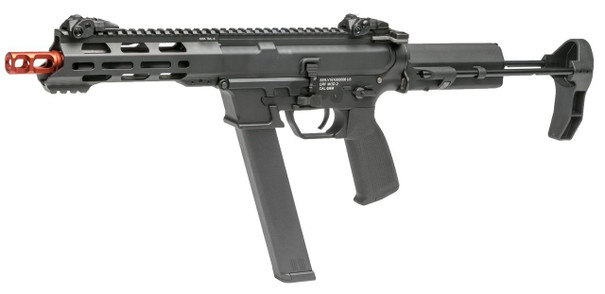 KWA QRF Series MOD 2 Pistol Caliber Carbine Airsoft Rifle, Black