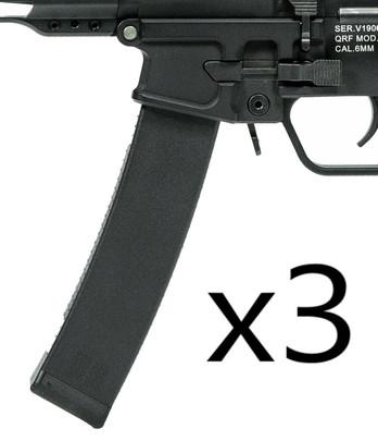 KWA QRF Series MOD 1 80rd Mid-Cap Magazine, 3-Pack