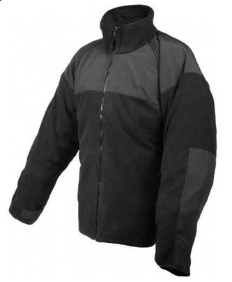 Rothco ECWCS Polar Fleece Jacket w/ Reinforced Elbows, Black