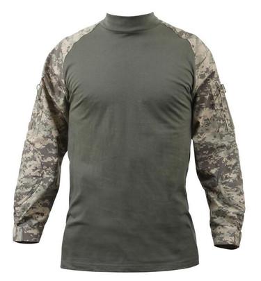 Rothco Military Combat Shirt w/ Reinforced Elbows, ACU Digital Camo