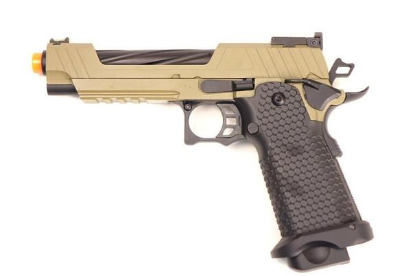 JAG Arms GMX Series 1.0 Gas Blowback Airsoft Pistol, Black / Tan