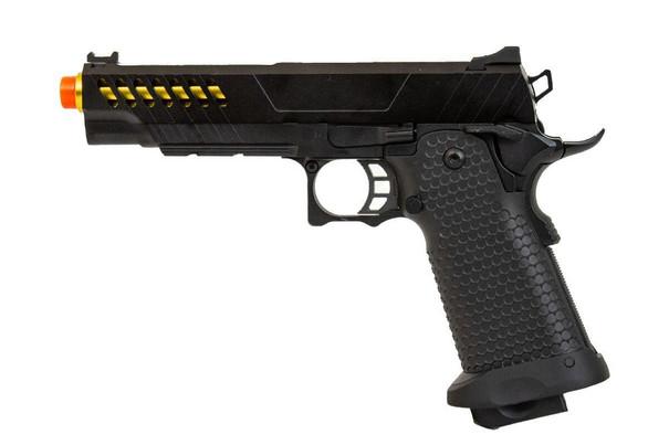 JAG Arms GMX Series 2.0 Gas Blowback Airsoft Pistol, Gold Barrel