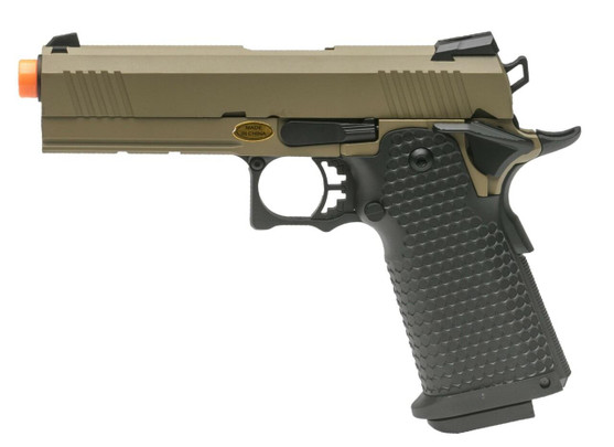 JAG Arms GM4 Series 4.3 Gas Blowback Airsoft Pistol, Tan / Black