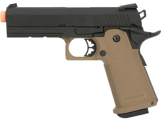 JAG Arms GM4 Series 4.3 Gas Blowback Airsoft Pistol, Black / Tan