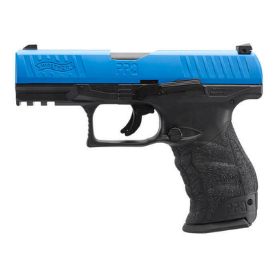 Umarex T4E Walther PPQ LE .43 Cal Co2 Blowback Paintball Pistol w/ Extra Mag, Blue / Black