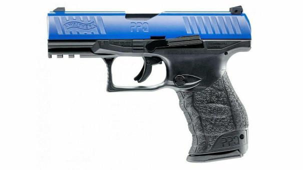Umarex T4E Smith and Wesson MandP9 M2.0 LE Co2 Blowback Paintball Marker Pistol, Blue / Black