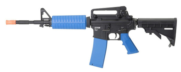 Umarex T4E TM-4 .43 Cal Co2 Paintball Rifle w/ Extra Mag and Bolt Assembly, Blue / Black