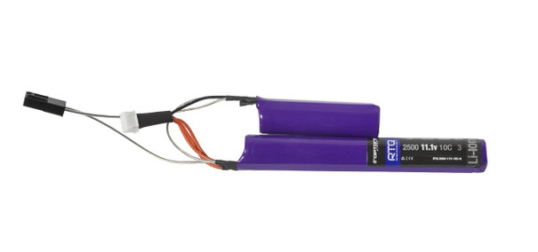 Raptors Airsoft RTX 2500mAh 11.1v Extreme Li-Ion 10C Nunchuck Battery