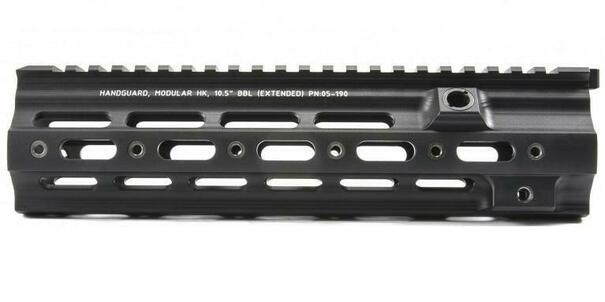 Geissele AZI 10.5 VFC 416 Modular Rail w/ Laser Etched Markings, Black