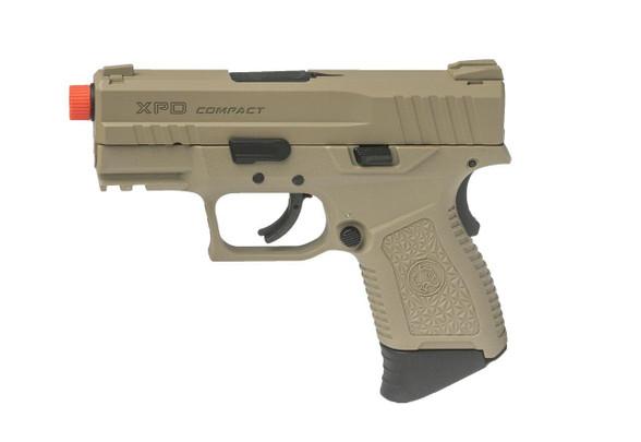 ASG XPD Compact Gas Blowback Airsoft Pistol, Tan