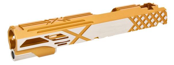 Airsoft Masterpiece Hi-Capa 5.1 / 1911 Custom X Slide, Gold Two-Tone