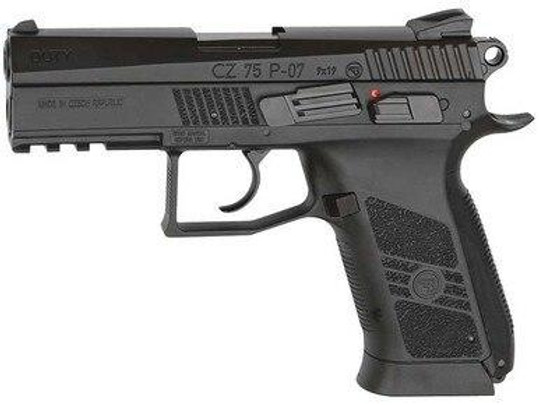 ASG Licensed CZ 75 P-07 Co2 Blowback .177 Airgun, Black