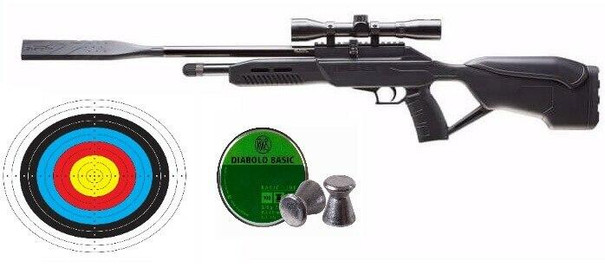 UMAREX Fusion 2 Quiet Co2 Air Rifle and Scope Combo