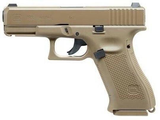 UMAREX Glock 19X Gen 5 .177 Co2 Air Pistol, Tan