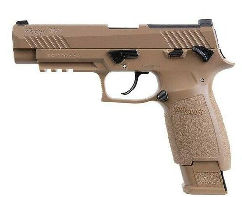 SIG AIR M17 P320 Military Style .177 Co2 Blowback Air Pistol, Tan