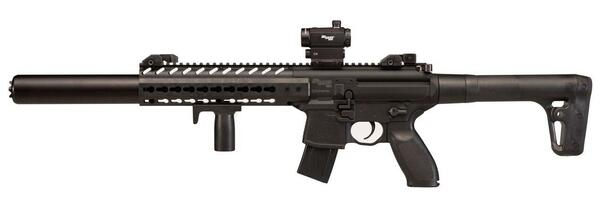 SIG AIR MCX .177 Co2 Air Rifle w/ Micro Red Dot Sight, Black