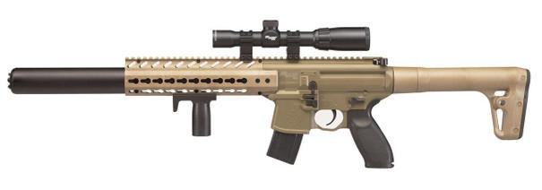 SIG AIR MCX .177 Co2 Air Rifle w/1-4x24 Precision Scope, Tan / Black
