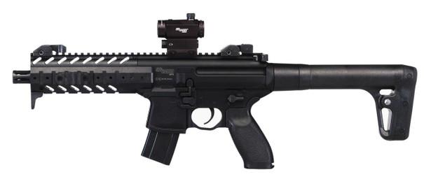 SIG AIR MPX .177 Co2 Air Rifle w/ Micro Red Dot Sight, Black
