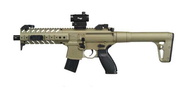 SIG AIR MPX .177 Co2 Air Rifle w/ Micro Red Dot Sight, Tan