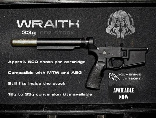 Wolverine WRAITH 33g Co2 M4 Stock w/ Storm InBuffer Regulator