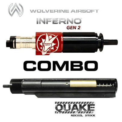 Wolverine QUAKE Gen 2 Spartan Recoil Stock QWK Ready w/ Control Board and INFERNO Gen 2 HPA Engine