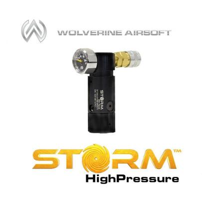Wolverine Airsoft STORM OnTank High Pressure Regulator w/ Remote Line, Black