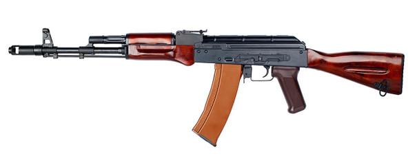 EandL Airsoft AK74N Platinum Airsoft Rifle w/ Real Wood Furniture, Black