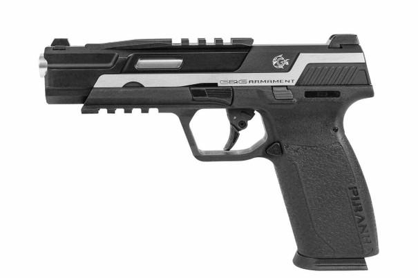 GandG Piranha TR Gas Blowback Airsoft Pistol, Silver / Black