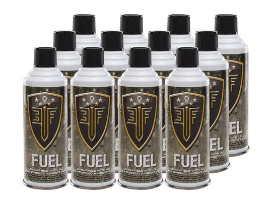 Elite Force Fuel, Green Gas for Airsoft Guns, 12 Pack - GROUND SHIPPING ONLY
