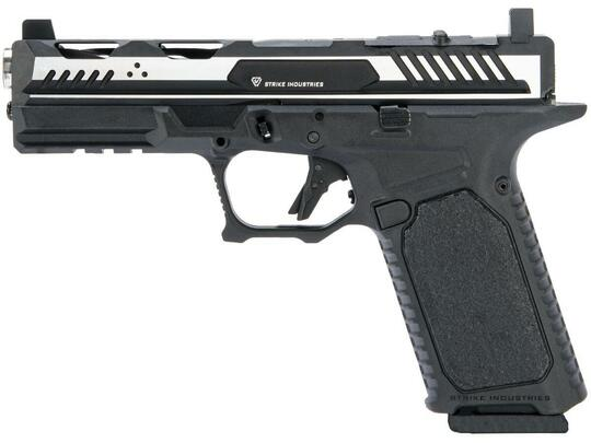EMG Strike Industries ARK Gas Blowback Airsoft Pistol w/ STRIKE Frame, Black / Silver