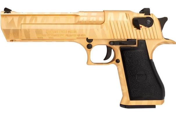 We-Tech Magnum Research Desert Eagle .50 AE Gas Blowback Pistol, Gold Tigerstripe