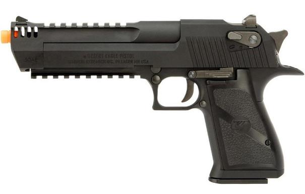 We-Tech Magnum Research Desert Eagle L6 .50 AE Gas Blowback Pistol, Black