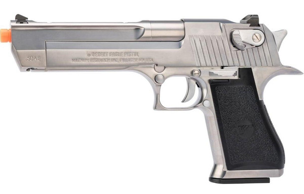 We-Tech Magnum Research Desert Eagle L6 .50 AE Gas Blowback Pistol, Silver