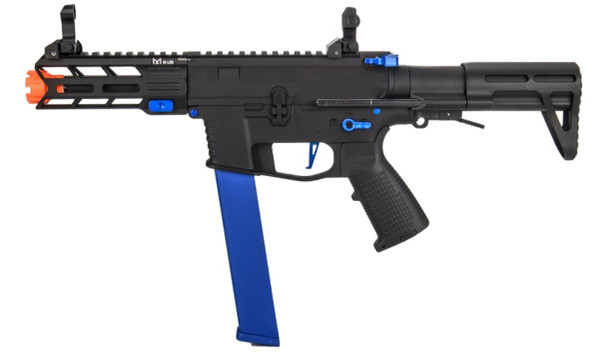 Classic Army Nemesis X9 AEG Airsoft SMG, Black/Blue