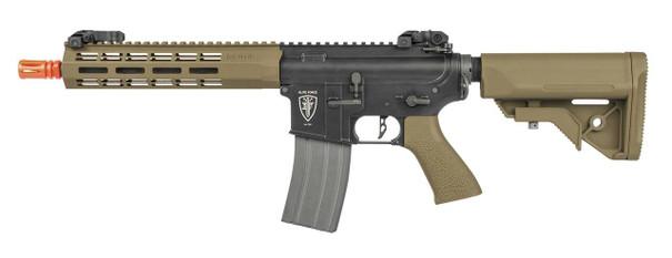 Elite Force M4 CQB AEG Airsoft Rifle, Black/FDE