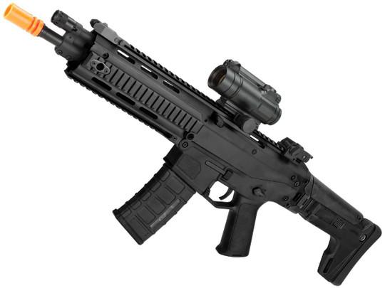 AandK Adaptive Combat CQB AEG Airsoft Rifle, Black