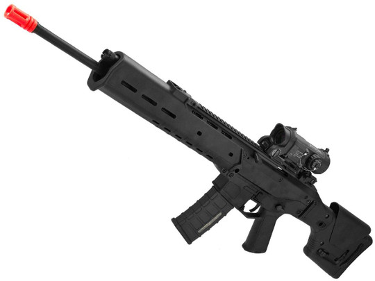 AandK Adaptive Combat AEG Airsoft Rifle, Black/DMR