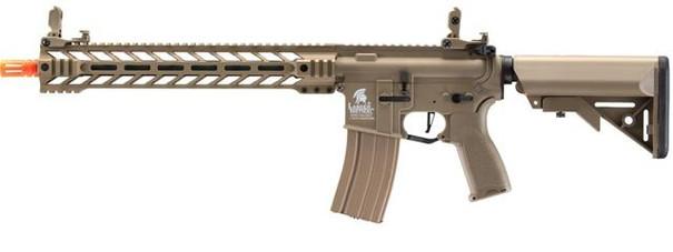 Lancer Tactical Enforcer Battle Hawk 14 Hybrid Series M4 AEG Airsoft Rifle, Tan