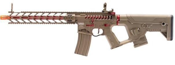 Lancer Tactical Enforcer Night Wing Skeleton AEG Airsoft Rifle w/ Alpha Stock, Tan