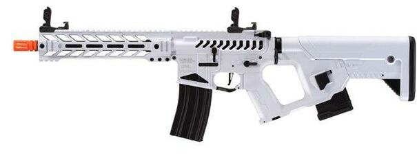 Lancer Tactical Enforcer Battle Hawk 10 Skeleton AEG Airsoft Rifle w/ Alpha Stock, White