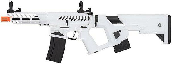 Lancer Tactical Enforcer NEEDLETAIL Skeleton AEG Airsoft Rifle w/ Alpha Stock, White/Black