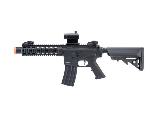 Colt Licensed Elite Line SBR w/ 8 Quadrail M4 AEG Airsoft Rifle by Cybergun, Black
