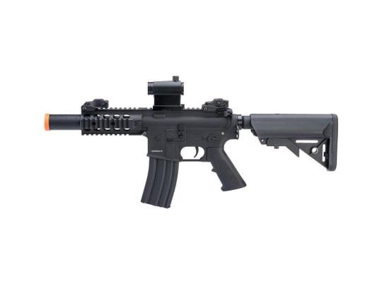 Colt Licensed Elite Line SBR w/ 5 Quadrail M4 AEG Airsoft Rifle by Cybergun, Black