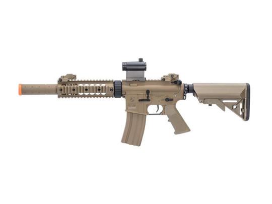 Colt Licensed Elite Line M4 CQB-R w/ 7 Rail M4 AEG Airsoft Rifle by Cybergun, Tan