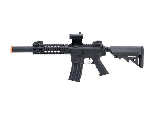 Colt Licensed Elite Line CQB-R w/ 7 Rail M4 AEG Airsoft Rifle by Cybergun, Black