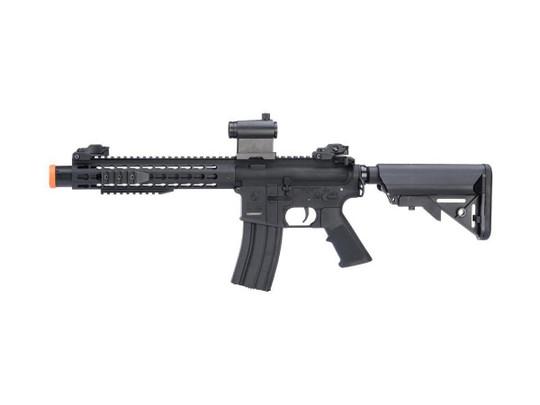 Colt Licensed Elite Line Keymod 10 w/ Muzzle Booster M4 AEG Airsoft Rifle by Cybergun, Black