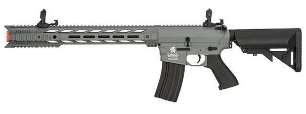 Lancer Tactical Interceptor SPR AEG Airsoft Rifle, Gray