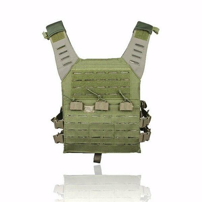 Valken Laser Cut MOLLE Plate Carrier w/ Integrated Mag Pouches, Olive