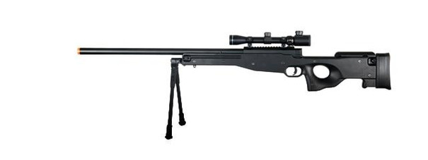 Double Eagle Full Metal L96 Bolt Action Airsoft Sniper Rifle with Scope and Bipod